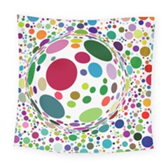 Color Ball Square Tapestry (large) by Mariart