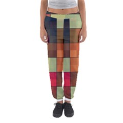 Background With Color Layered Tiling Women s Jogger Sweatpants by Simbadda