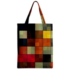 Background With Color Layered Tiling Zipper Classic Tote Bag by Simbadda