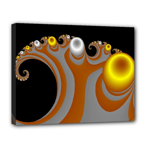 Classic Mandelbrot Dimpled Spheroids Canvas 14  X 11  by Simbadda