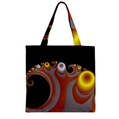 Classic Mandelbrot Dimpled Spheroids Zipper Grocery Tote Bag by Simbadda