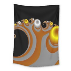 Classic Mandelbrot Dimpled Spheroids Medium Tapestry by Simbadda