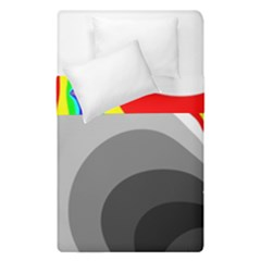 Background Image With Color Shapes Duvet Cover Double Side (single Size) by Simbadda