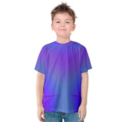 Violet Fractal Background Kids  Cotton Tee by Simbadda