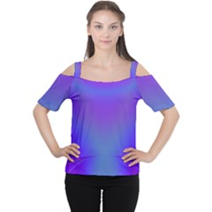 Violet Fractal Background Women s Cutout Shoulder Tee by Simbadda