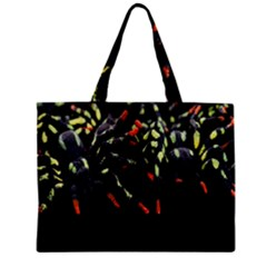 Colorful Spiders For Your Dark Halloween Projects Zipper Mini Tote Bag by Simbadda