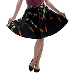 Colorful Spiders For Your Dark Halloween Projects A-line Skater Skirt by Simbadda