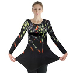 Colorful Spiders For Your Dark Halloween Projects Long Sleeve Tunic