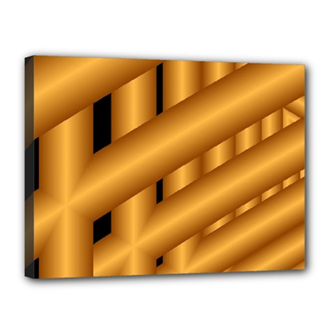 Fractal Background With Gold Pipes Canvas 16  X 12  by Simbadda