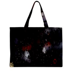 Lights And Drops While On The Road Zipper Mini Tote Bag by Simbadda