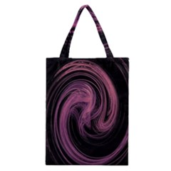 A Pink Purple Swirl Fractal And Flame Style Classic Tote Bag by Simbadda