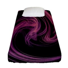 A Pink Purple Swirl Fractal And Flame Style Fitted Sheet (single Size) by Simbadda