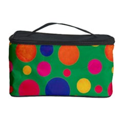 Polka Dots Cosmetic Storage Case by Valentinaart