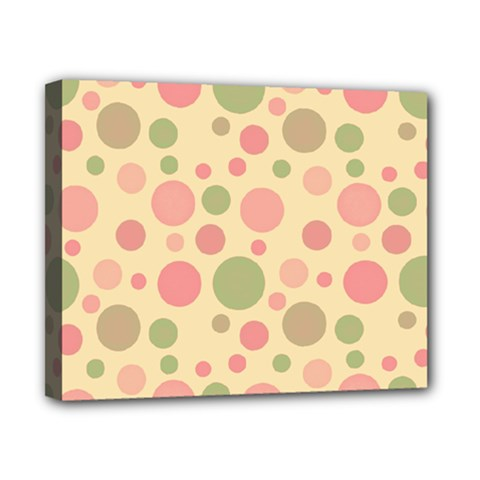 Polka Dots Canvas 10  X 8  by Valentinaart