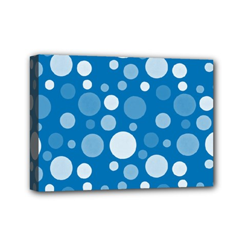 Polka Dots Mini Canvas 7  X 5  by Valentinaart