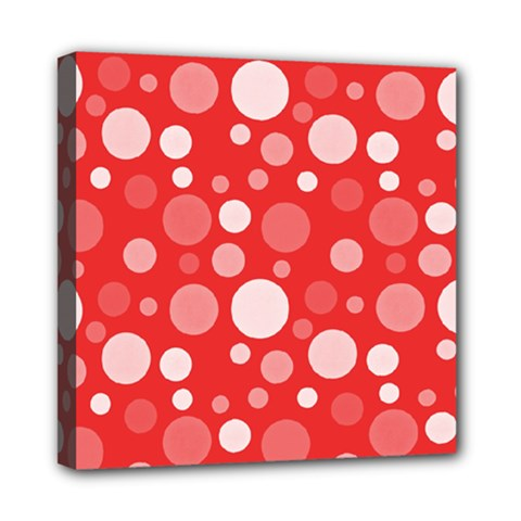 Polka dots Mini Canvas 8  x 8