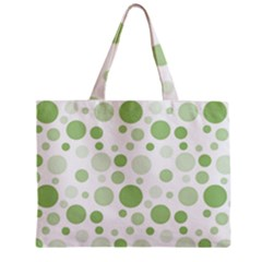 Polka Dots Zipper Mini Tote Bag by Valentinaart