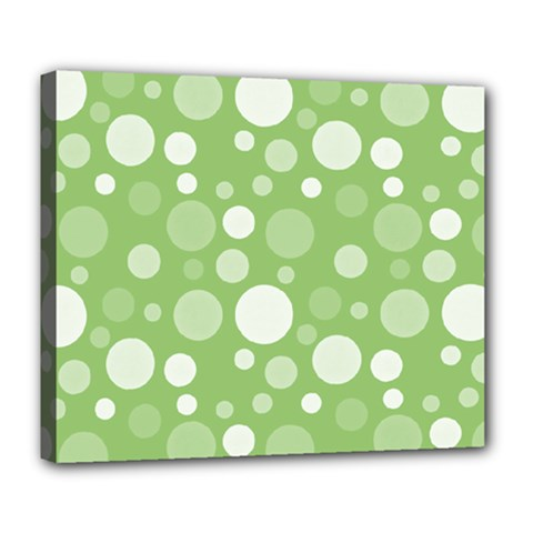 Polka Dots Deluxe Canvas 24  X 20   by Valentinaart