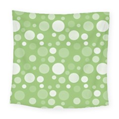 Polka Dots Square Tapestry (large) by Valentinaart