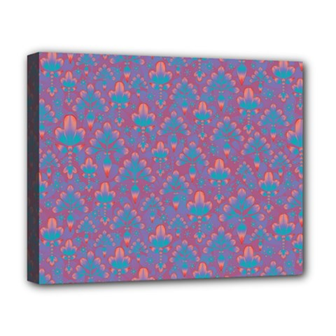 Pattern Deluxe Canvas 20  X 16   by Valentinaart
