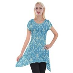 Pattern Short Sleeve Side Drop Tunic by Valentinaart