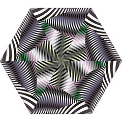 Fractal Zebra Pattern Mini Folding Umbrellas by Simbadda