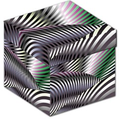 Fractal Zebra Pattern Storage Stool 12   by Simbadda