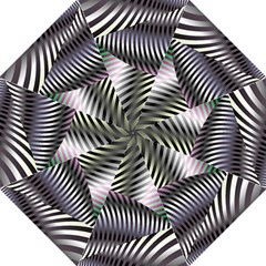 Fractal Zebra Pattern Hook Handle Umbrellas (medium) by Simbadda