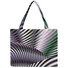 Fractal Zebra Pattern Mini Tote Bag by Simbadda