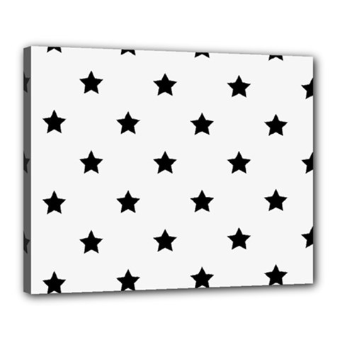 Stars Pattern Canvas 20  X 16  by Valentinaart