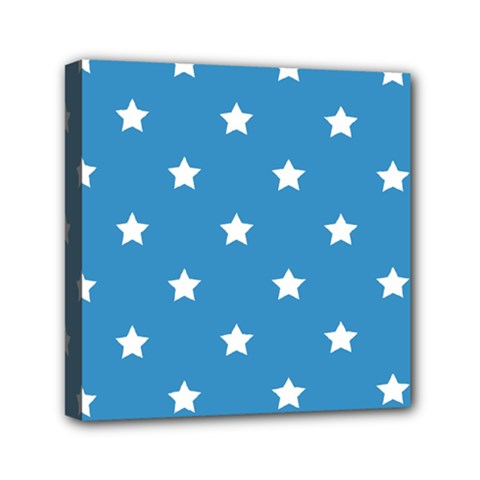 Stars Pattern Mini Canvas 6  X 6  by Valentinaart