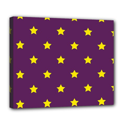 Stars Pattern Deluxe Canvas 24  X 20   by Valentinaart