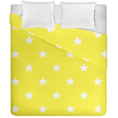 Stars Pattern Duvet Cover Double Side (california King Size) by Valentinaart