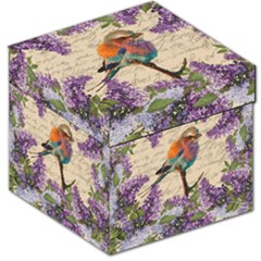 Vintage Bird And Lilac Storage Stool 12   by Valentinaart