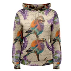 Vintage Bird And Lilac Women s Pullover Hoodie by Valentinaart