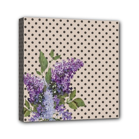 Vintage Lilac Mini Canvas 6  X 6  by Valentinaart