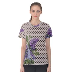 Vintage Lilac Women s Cotton Tee by Valentinaart