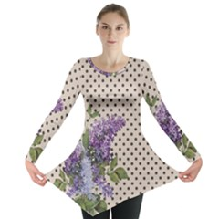 Vintage Lilac Long Sleeve Tunic  by Valentinaart