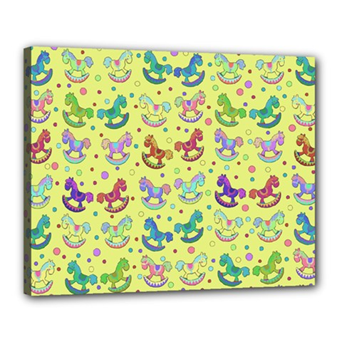 Toys Pattern Canvas 20  X 16  by Valentinaart