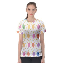 Balloon Star Rainbow Women s Sport Mesh Tee by Mariart