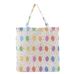 Balloon Star Rainbow Grocery Tote Bag by Mariart