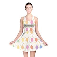 Balloon Star Rainbow Reversible Skater Dress