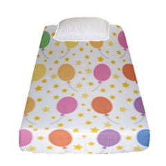 Balloon Star Rainbow Fitted Sheet (single Size) by Mariart