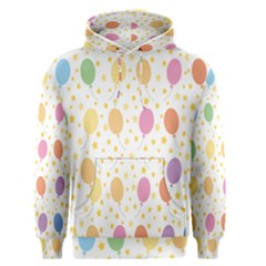 Balloon Star Rainbow Men s Pullover Hoodie