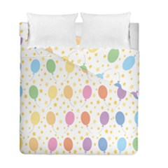 Balloon Star Rainbow Duvet Cover Double Side (full/ Double Size) by Mariart