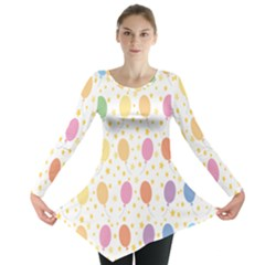 Balloon Star Rainbow Long Sleeve Tunic
