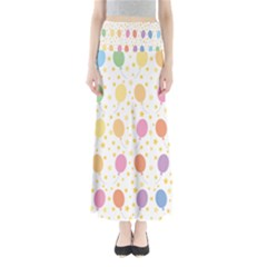 Balloon Star Rainbow Maxi Skirts by Mariart