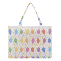 Balloon Star Rainbow Medium Tote Bag by Mariart