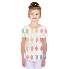 Balloon Star Rainbow Kids  One Piece Tee