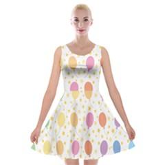 Balloon Star Rainbow Velvet Skater Dress